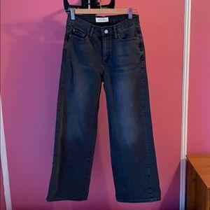 Gap Wide Leg High Rise Gray Jeans
